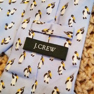 J.Crew Ltd Edition 100% Silk Party Penguin Tie